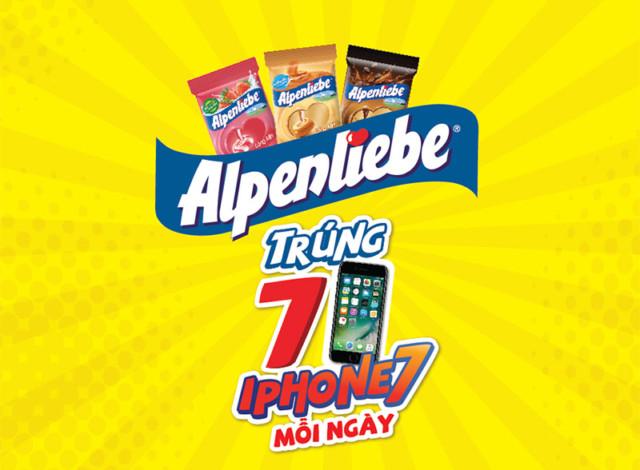 Alpenliebe: Trúng 7 iPhone7 mỗi ngày