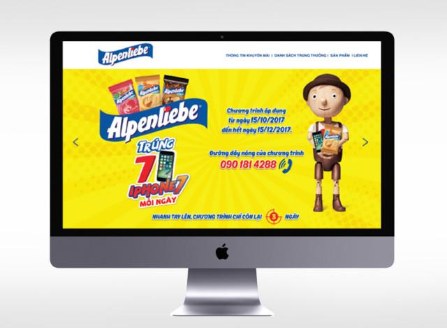Microsite: Alpenliebe Trúng 7 iPhone7 mỗi ngày